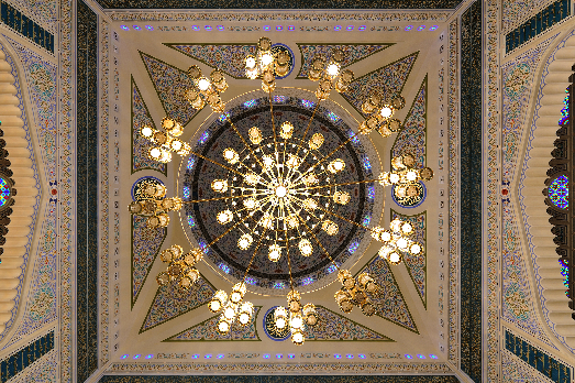 Chandelier ceiling view
