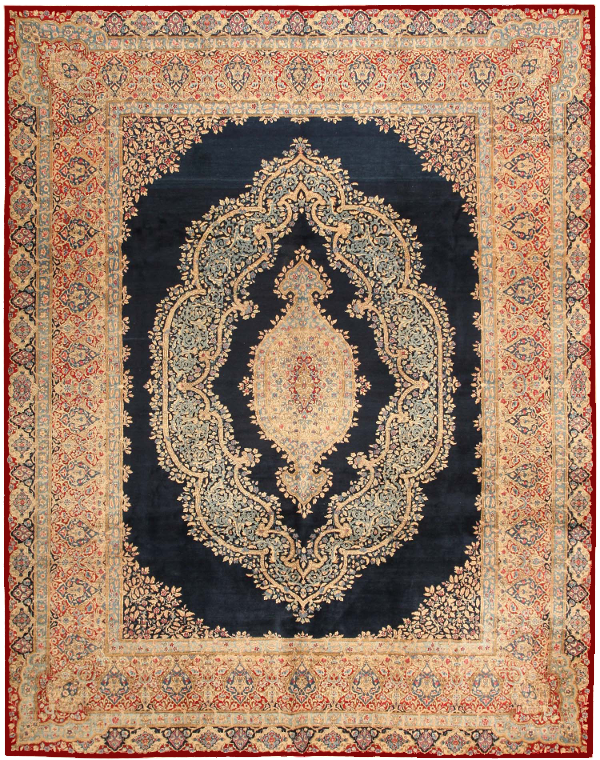 Persian rug - transparent bg 600x900 maroon border