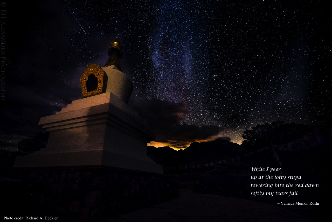 Stupa - Richard Heckler - with poem